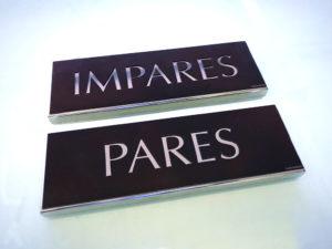 placas grabadas